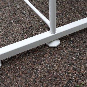 Scheidingswand extra voet wit 2x