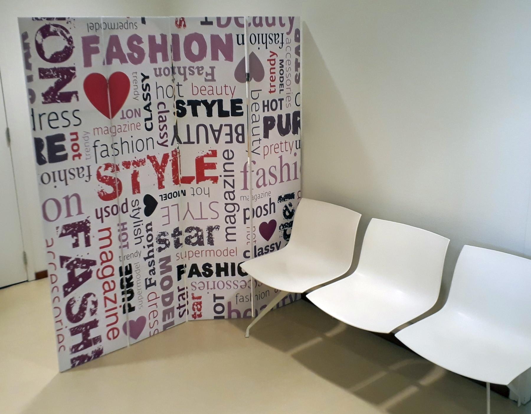 Kamerscherm Fashion wachtuimte