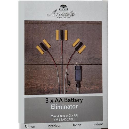Batterij Vervanger 3xAA  3 aansluitingen