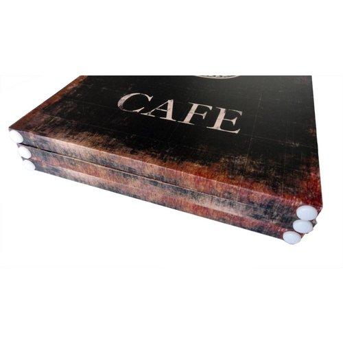 Canvas Kamerscherm Cafe Bistro Restaurant