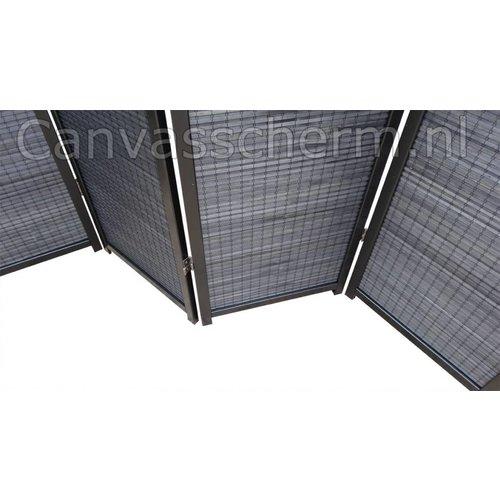 Zwart Kamerscherm 4 panelen
