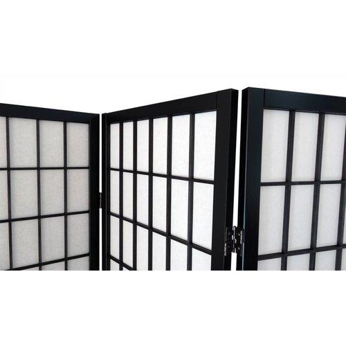 Roomdivider Japans Zwart 5 panelen