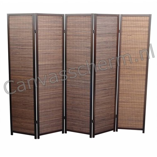 Kamerscherm Walnut 5 panelen