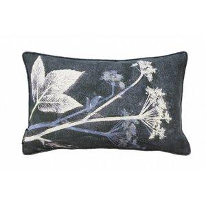 Pernille Folcarelli Pernille Folcarelli ground elder blue cushion