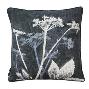 Pernille Folcarelli Ground elder blue cushion