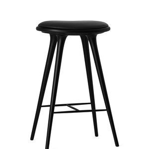 Mater High Stool black stained beech