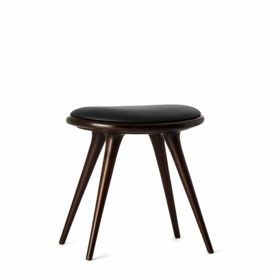 Mater Low Stool dark stained beech