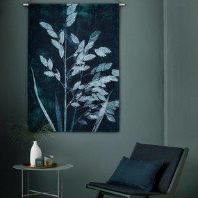Pernille Folcarelli wandkleed grassen petroleumblauw