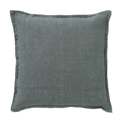 Bungalow linnen grijsgroen kussen
