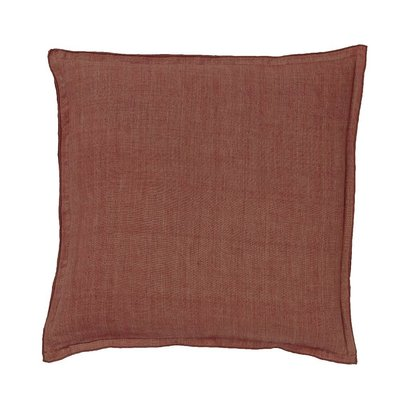 Bungalow linen rust cushion
