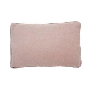 Bungalow fluwelen nude roze kussen