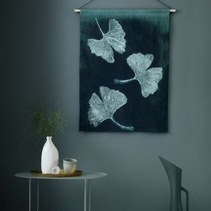 Pernille Folcarelli ginkgo jade green wallhanging