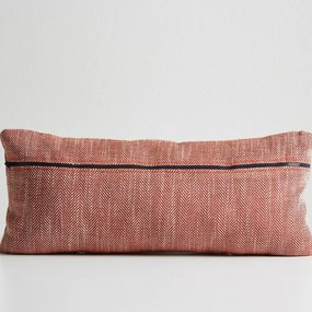 Woud Herringbone cushion carmine red
