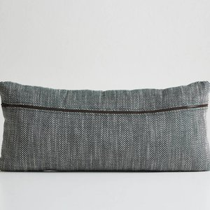 Woud Herringbone cushion forest green
