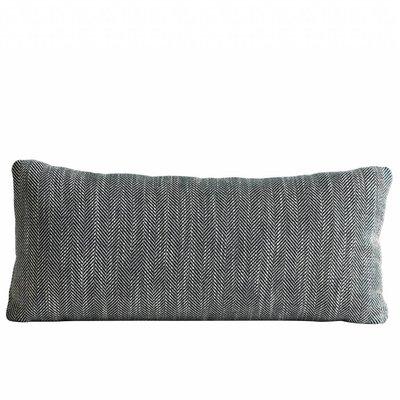 Woud Herringbone cushion forest green