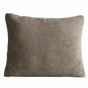 Woud Canvas cushion terra beige