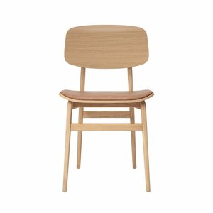 NORR11 NY11 dining chair, natural frame - leather