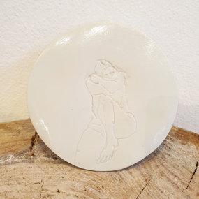 PTZE Porcelain studio Coaster 'Model'