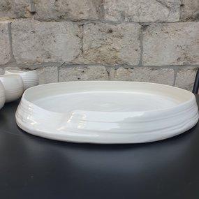 PTZE Porcelain studio Lotus tray