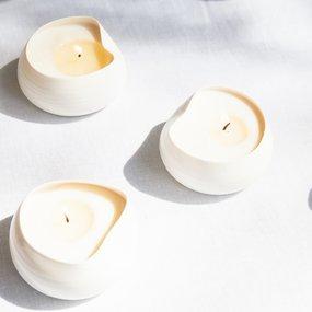 PTZE Porcelain studio Cocoon kaarsen in geschenkdoos