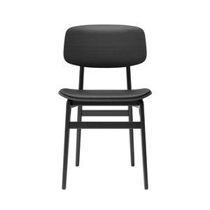 NORR11 NY11 eetkamerstoel, premium leather zwart