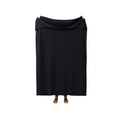Form & Refine Aymara plaid donkerblauw