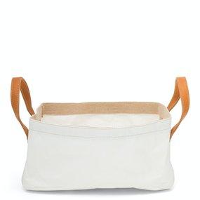 UASHMAMA® Vassoio basket with leather handles