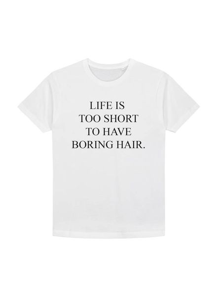 Life is too short to have boring hair shirt (white/black)