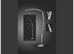 vloerlamp 60179 / 1-92 rvs + dimmer Tree 180cmH 110b