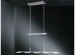 hanglamp 67665 mat nikkel / chrom Will 5li,