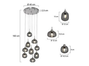 hanglamp  2485ST  Bollique LED