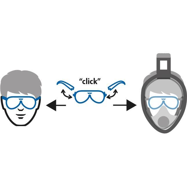 Ocean Reef Lens support 2.0 voor Aria snorkelmasker