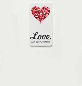 YOU·P® LOVE + HARTJES + NAAM naar keuze