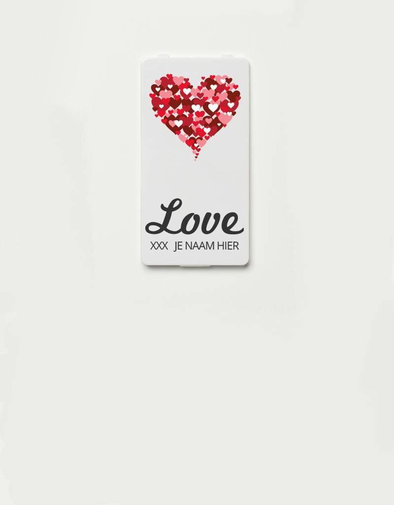 YOU·P® YOU·P®-klepje limited edition   LOVE + HARTJES + NAAM naar keuze