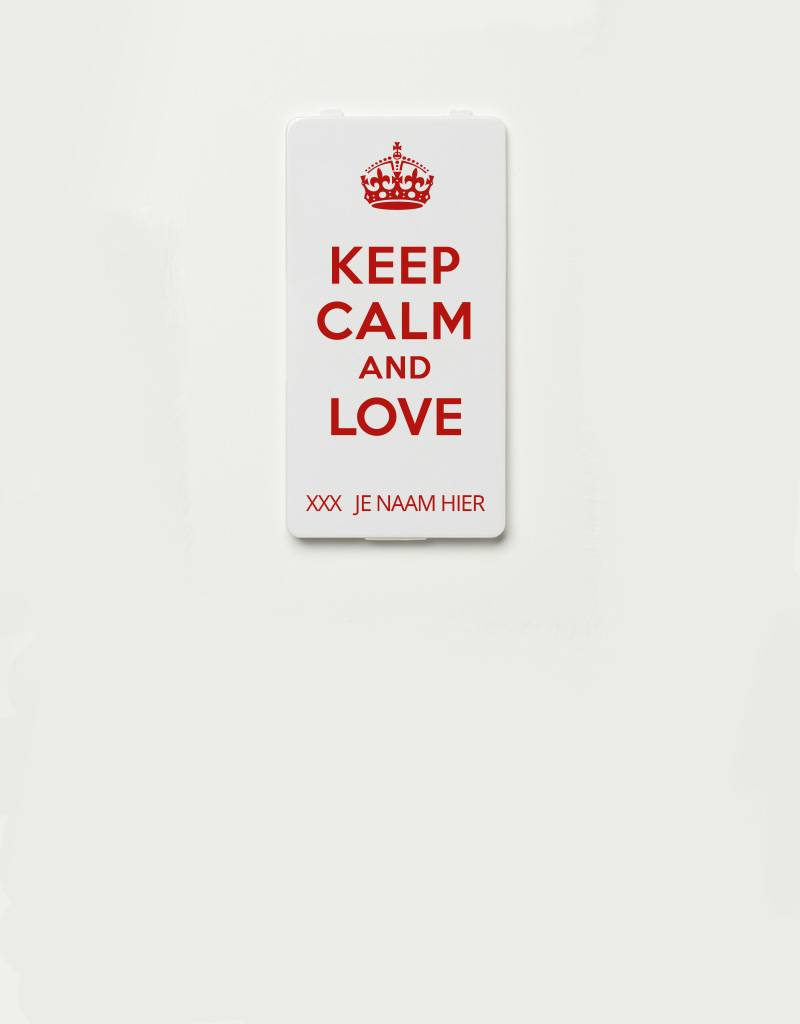 YOU·P® YOU·P® cover limited edition   YOU·P®-klepje KEEP CALM AND LOVE + NAME of choice
