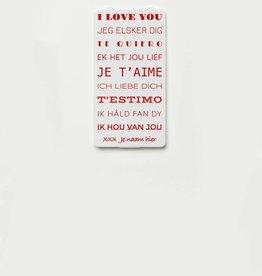 YOU·P® LOVE YOU (talen) + NAAM naar keuze