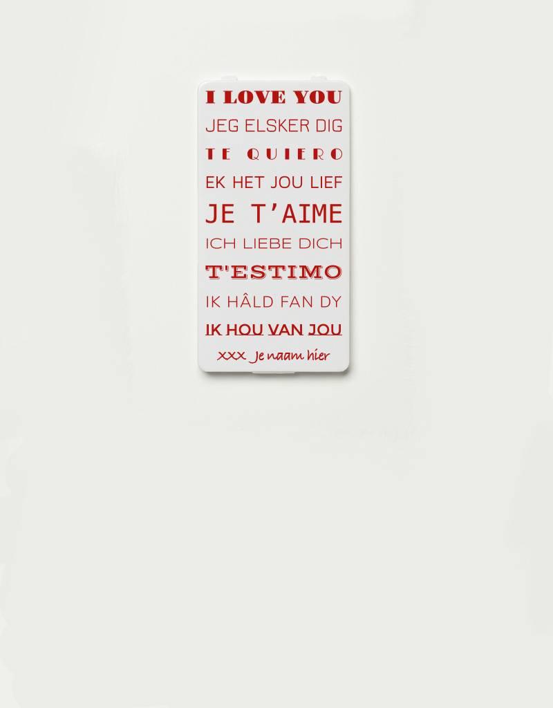 YOU·P® YOU·P®-klepje limited edition | I LOVE YOU (talen) + NAAM naar keuze