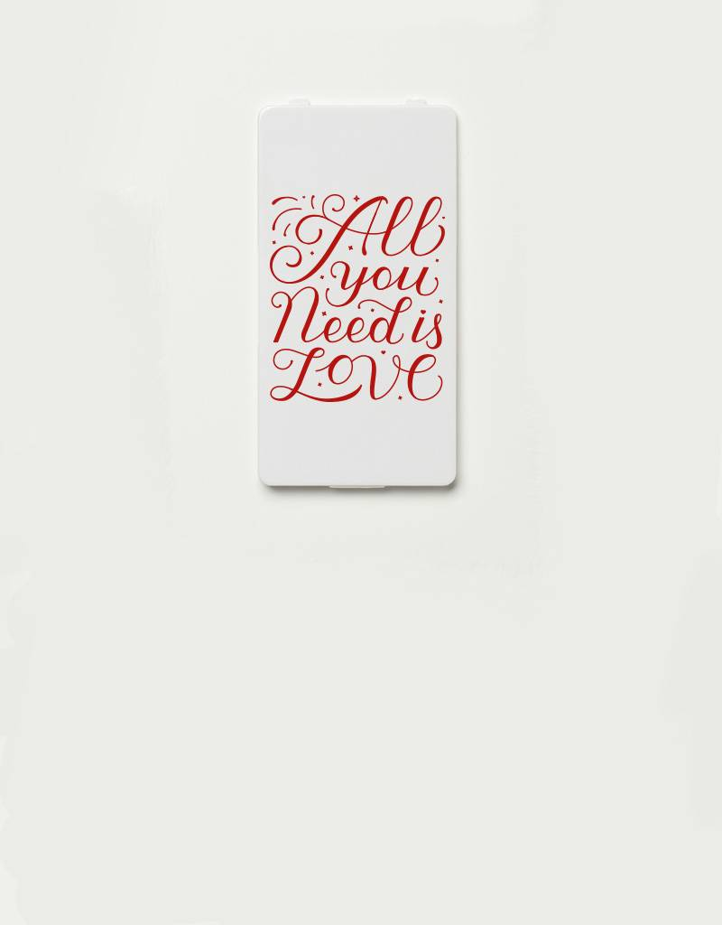 YOU·P® YOU·P® Limited Edition - cover for YOU·P smartphone holder | ALL YOU NEED IS LOVE - red text