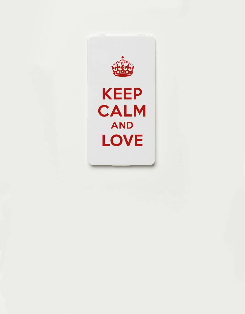 YOU·P® YOU·P® Limited Edition - cover for YOU·P smartphone holder | KEEP CALM AND LOVE