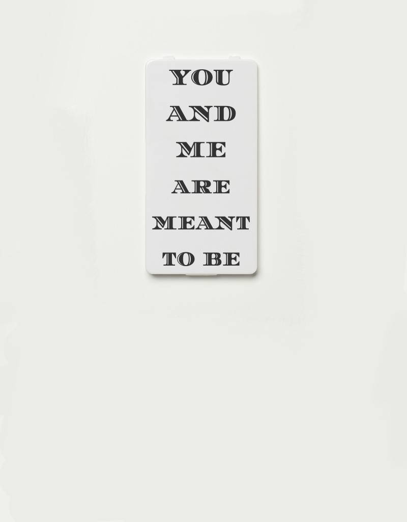 YOU·P® YOU·P® Limited Edition - cover for YOU·P smartphone holder | YOU AND ME ARE MEANT TO BE (gray)