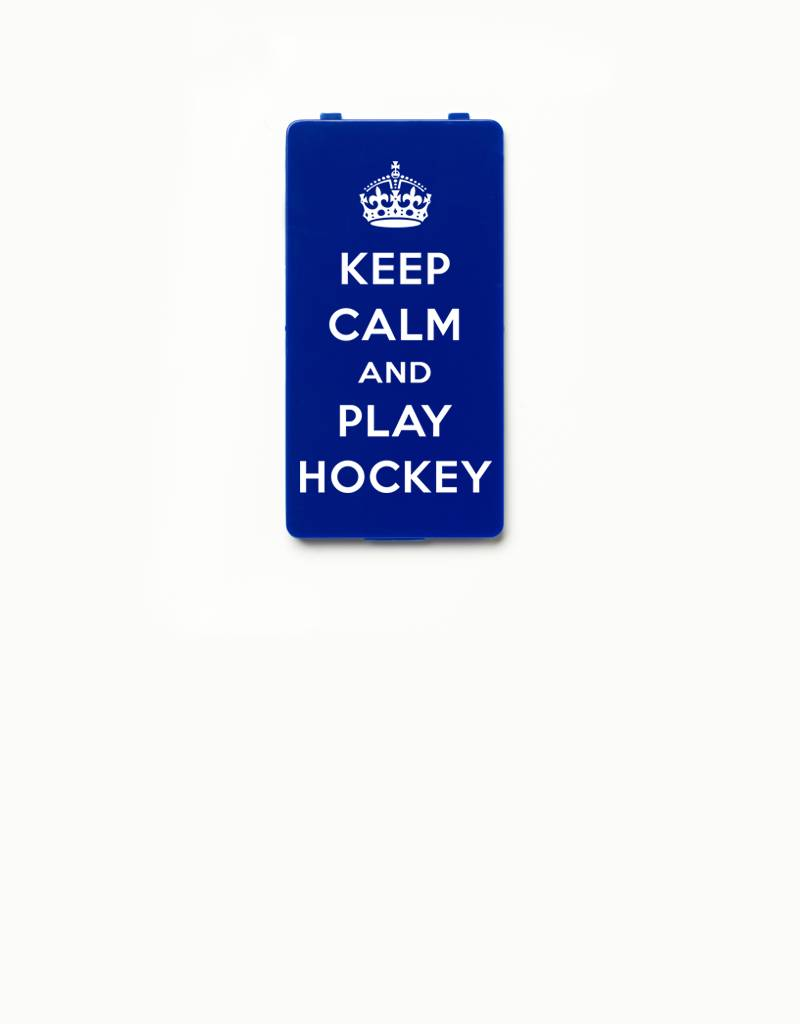 YOU·P® YOU·P® Limited Edition - cover for YOU·P smartphone holder | KEEP CALM and PLAY HOCKEY | Blue
