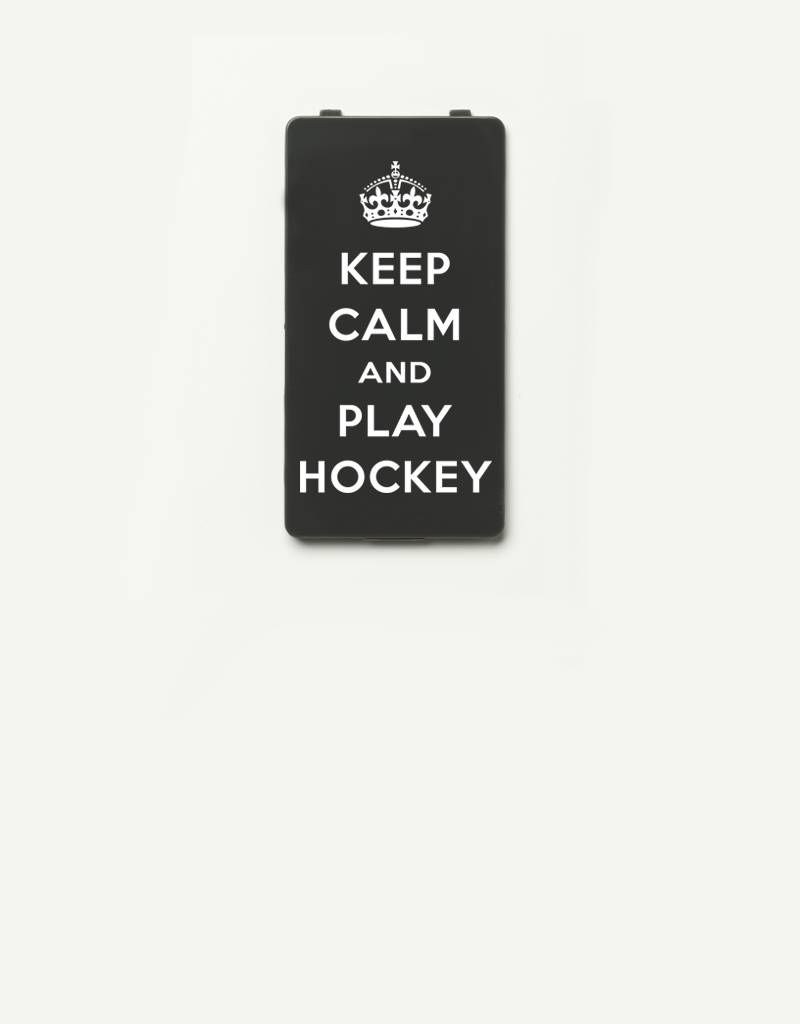 YOU·P® YOU·P® Limited Edition - cover for YOU·P smartphone holder   KEEP CALM and PLAY HOCKEY   Gray