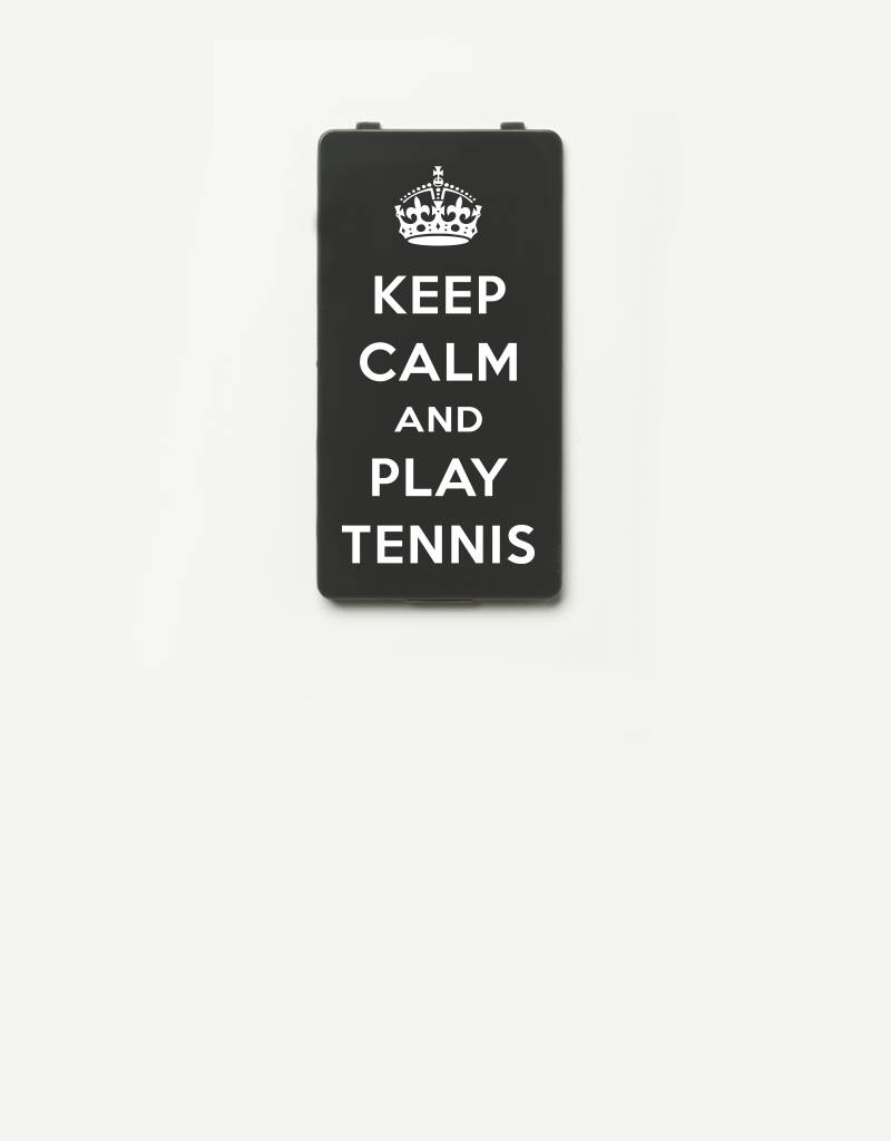YOU·P® YOU·P®-klepje limited edition | KEEP CALM and PLAY TENNIS - Grijs