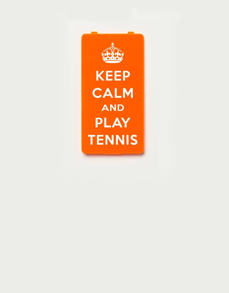 YOU·P® YOU·P® Limited Edition - cover for YOU·P smartphone holder | KEEP CALM and PLAY TENNIS | Orange