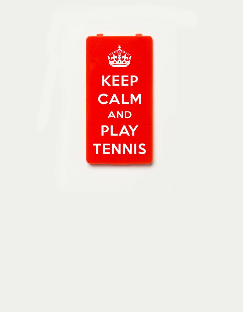 YOU·P® YOU·P®-klepje limited edition | KEEP CALM and PLAY TENNIS - Rood