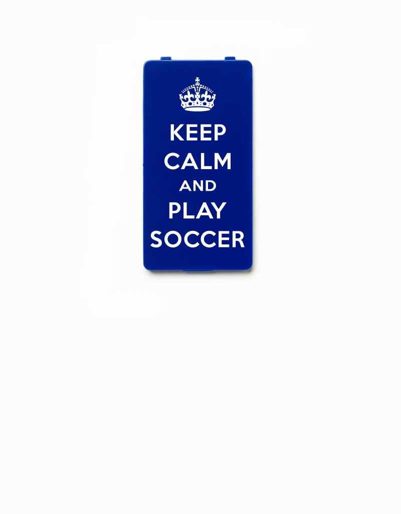 YOU·P® YOU·P® Limited Edition - cover for YOU·P smartphone holder | KEEP CALM and PLAY SOCCER | Blue