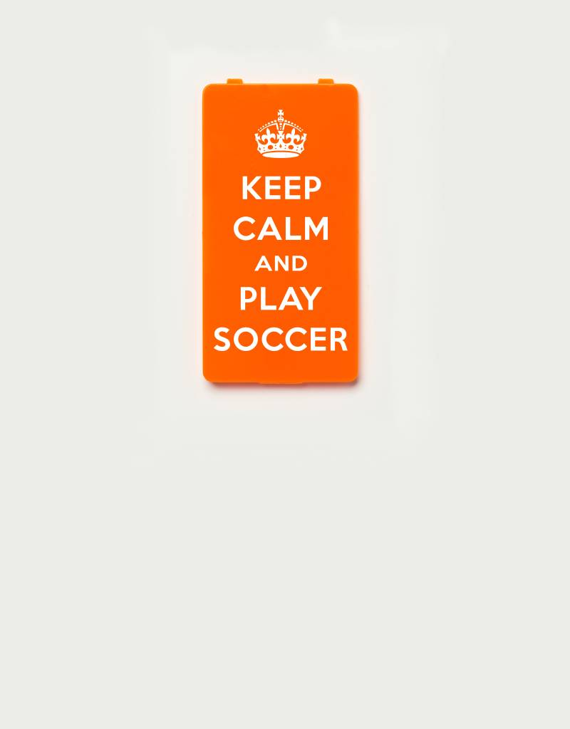 YOU·P® YOU·P® Limited Edition - cover for YOU·P smartphone holder | KEEP CALM and PLAY SOCCER | Orange