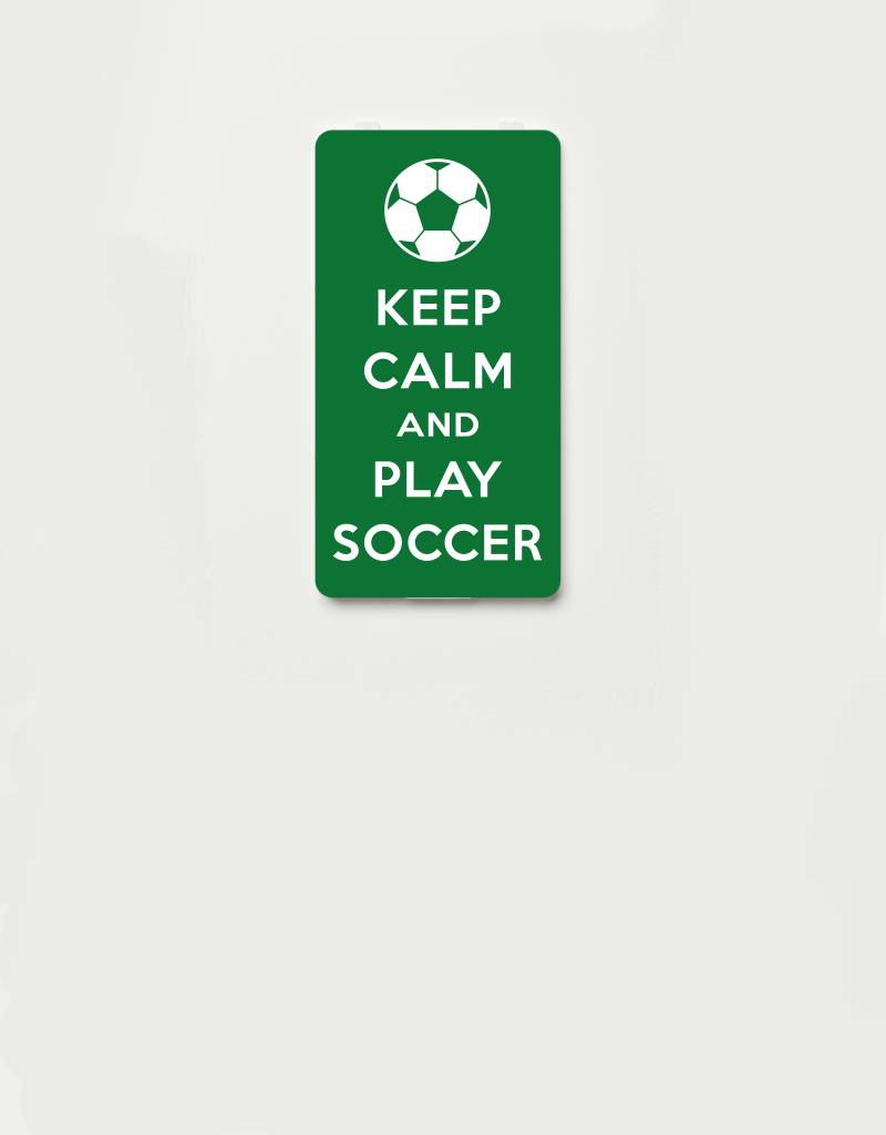 YOU·P® YOU·P®-klepje limited edition | KEEP CALM and PLAY SOCCER- Groen