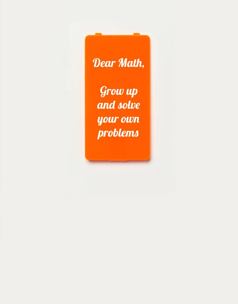 YOU·P® YOU·P® Limited Edition - cover for YOU·P smartphone holder | DEAR MATH GROW UP AND SOLVE YOUR OWN PROBLEMS | Orange