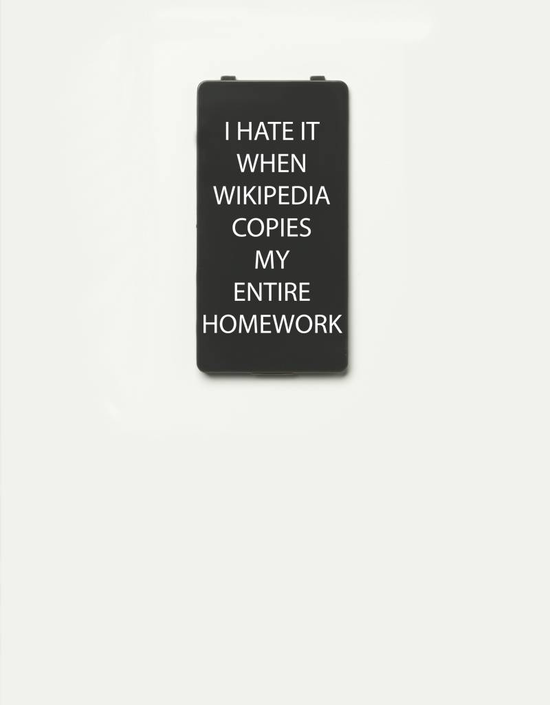 YOU·P® YOU·P® Limited Edition - cover for YOU·P smartphone holder | I HATE IT WHEN WIKIPEDIA COPIES MY ENTIRE HOMEWORK | Gray